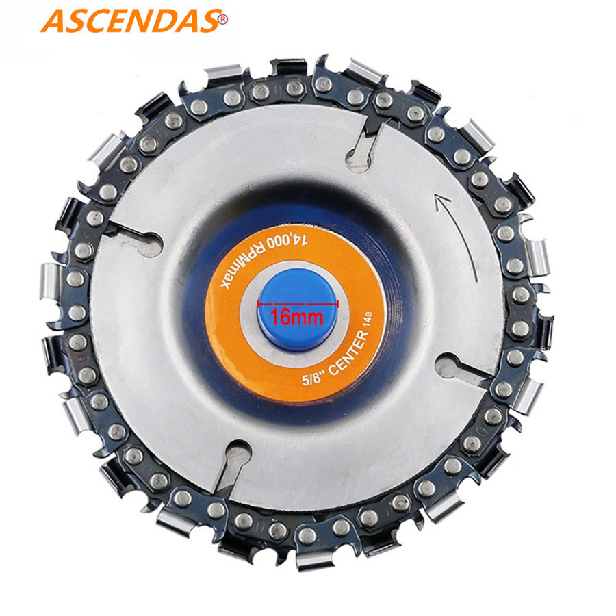 4 Inch Grinder Disc And Chain 22 Tooth Fine Cut Chain For 100/115 Angle Grinder Steel 14000rpm Fits For: 4