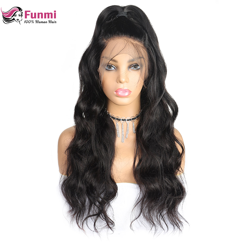13*4 Lace Front Human Hair Wigs For Women Brazilian Body Wave Lace Frontal Wig Pre Plucked With Baby Hair Funmi Remy Hair Wigs