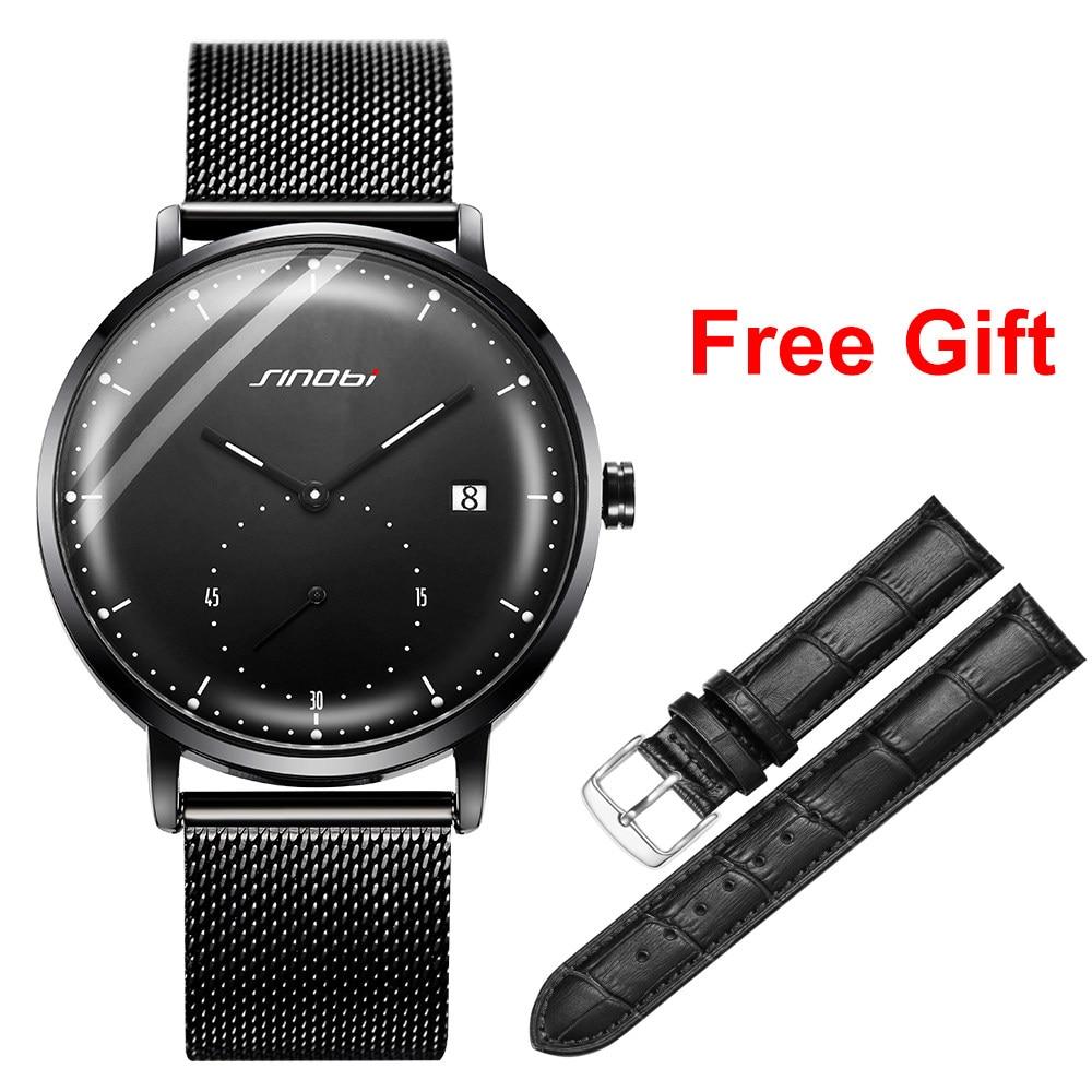 f745a391797a SINOBI relojes para hombre marca de lujo de cuarzo impermeable reloj de  pulsera luminosa puntero Japón movimiento de Ginebra reloj Relogio Masculino