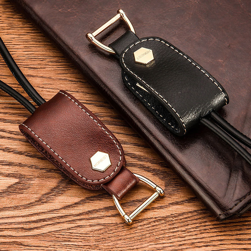 High-end Data Line USB Keychain Leather Cover Keyring Creative Gift for MINI Cooper Holden Dodge Buick Opel Lincoln KIA ISUZU