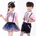 2016 School clothes set for boys girls tennis kids sports suit summer uniforms children age size 4-13Tyears