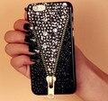 Горячая Молния Zip Кристалл Bling Капа Чехлы для Samsung Galaxy S7 S7 Edge S6 Edge S6 S5 S4 Примечание 5 4 3 iPhone 7 6 6 Плюс 5S 5 5C 4S 4