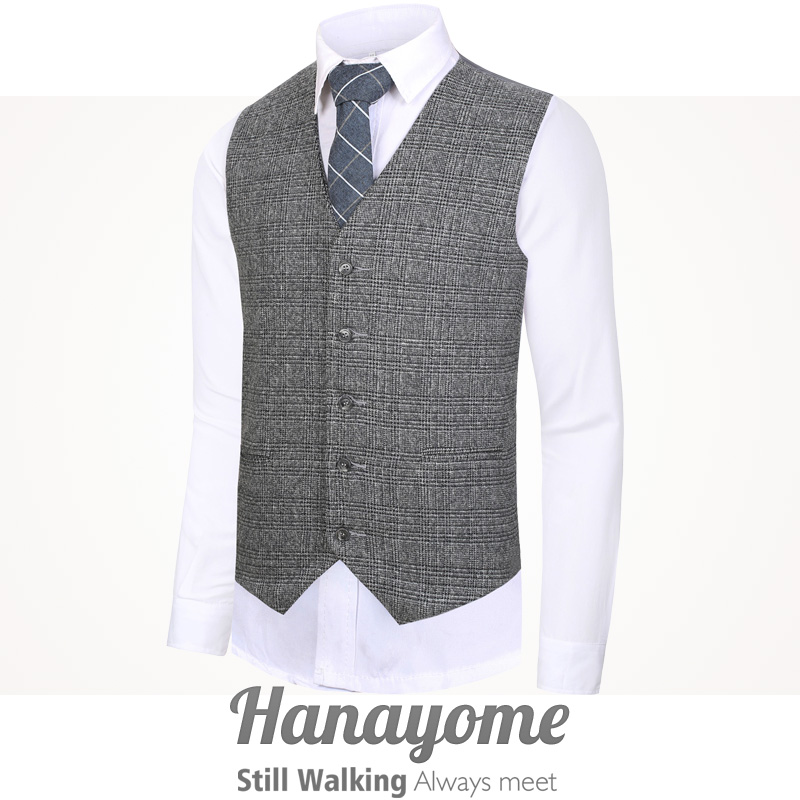 Hanayome Custom Suit man Gentleman Vest Cotton chalecos para hombre Fashion Party Wedding Clothing for Man waistcoat men VS58 in Vests from Men 39 s Clothing