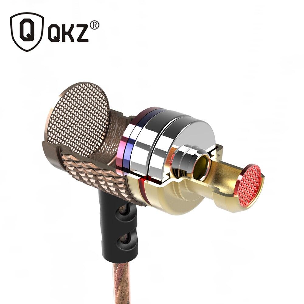 QKZ DM6 Auricolare In-Ear Auricolari in-ear Headset Professionale Metallo Pesante Dei Bassi del suono DJ MP3 Qualità Musica Auricolare fone de ouvido
