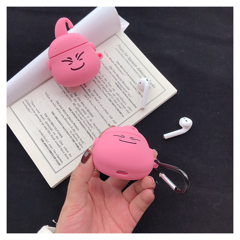 Image 5 - Airpods 1 2 Cute Japanese Cartoon Dragon Ball Majin Buu earphone silicone Cover For Apple Wireless Bluetooth Headset Cases Funda-in Earphone Accessories from Consumer Electronics