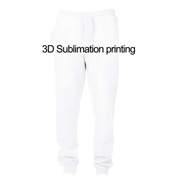 real american us size custom create your own 3d sublimation print string jogger pants
