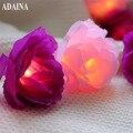 СВЕТОДИОДНЫЕ гирлянды с цветком 20/30LED  гирлянды с розами для свадьбы  сада  вечеринки  рождественские украшения  guirnalda luces rosa blanca