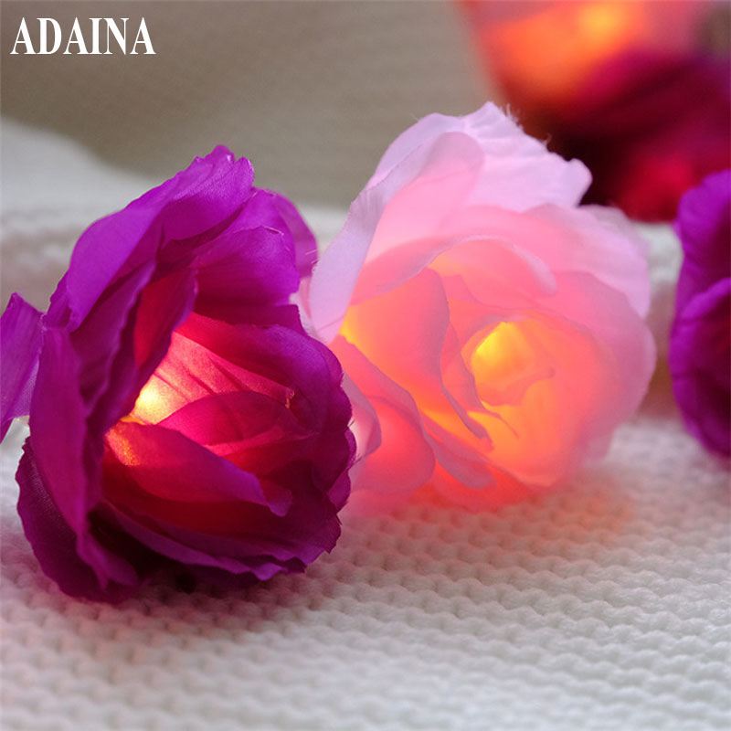Lights & Lighting Lighting Strings Liberal Led Flower Fairy Lights 20/30led Rose Flower String Lights Wedding Garden Party Christmas Decoration Guirnalda Luces Rosa Blanca Clients First