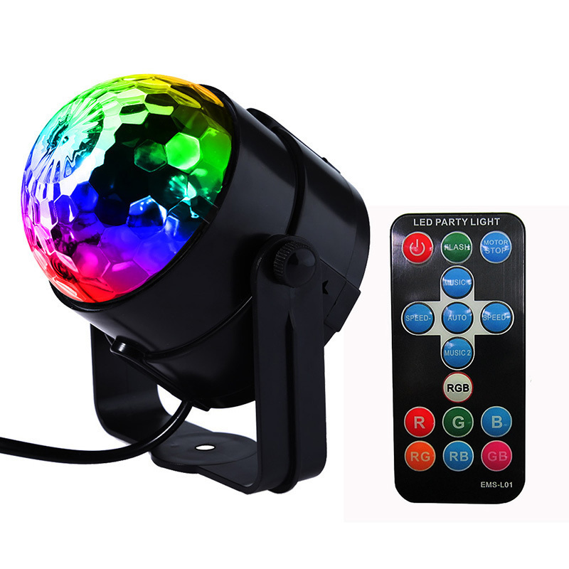 7 Colors LED Disco Ball Party Lights DJ Disco Ball Stage Light Sound Activated Strobe Party Stage Lighting Club Strobe Effects