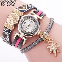 CCQ Style New Arrival Informal Ladies Wrist Watch PU Leather-based Bracelet Watches Luxurious Quartz Watch 2127