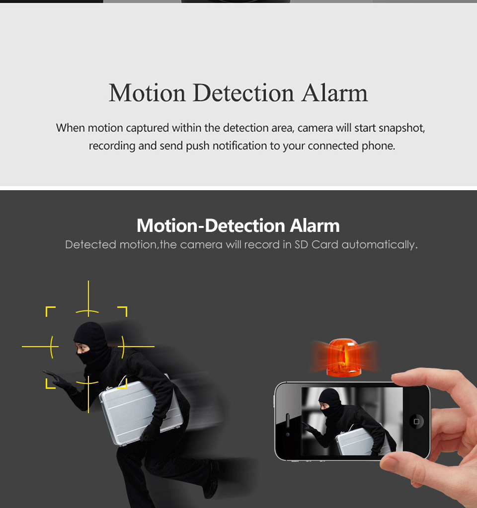 motion detection baby camera