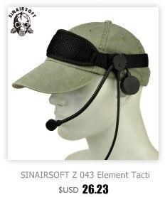 Sinairsoft z136 fone de ouvido militar atlântico