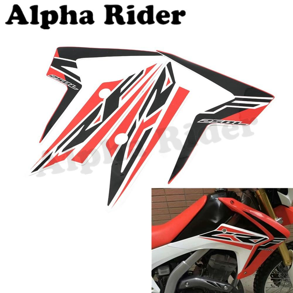Sticker design in bike - Motorcycle Fuel Gas Tank Decal Left Right Pads Stickers For Honda Xr250 Xr250l Motocross Pit