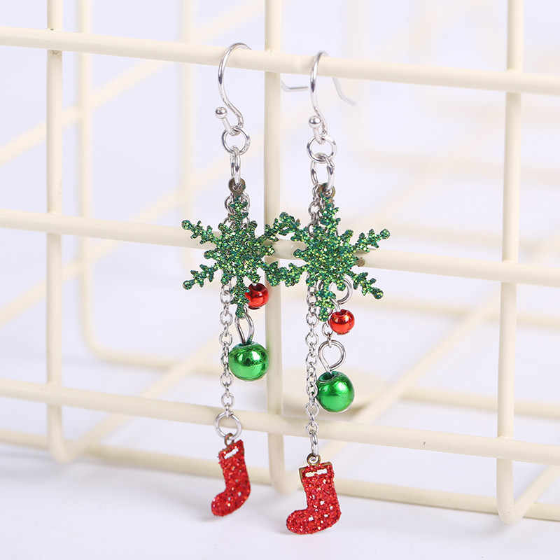 2018 New Christmas Gift Ladies Crystal Snow Flake Bijoux Statement Stud Earrings For Women Earring Fashion Jewelry Drop Shipping