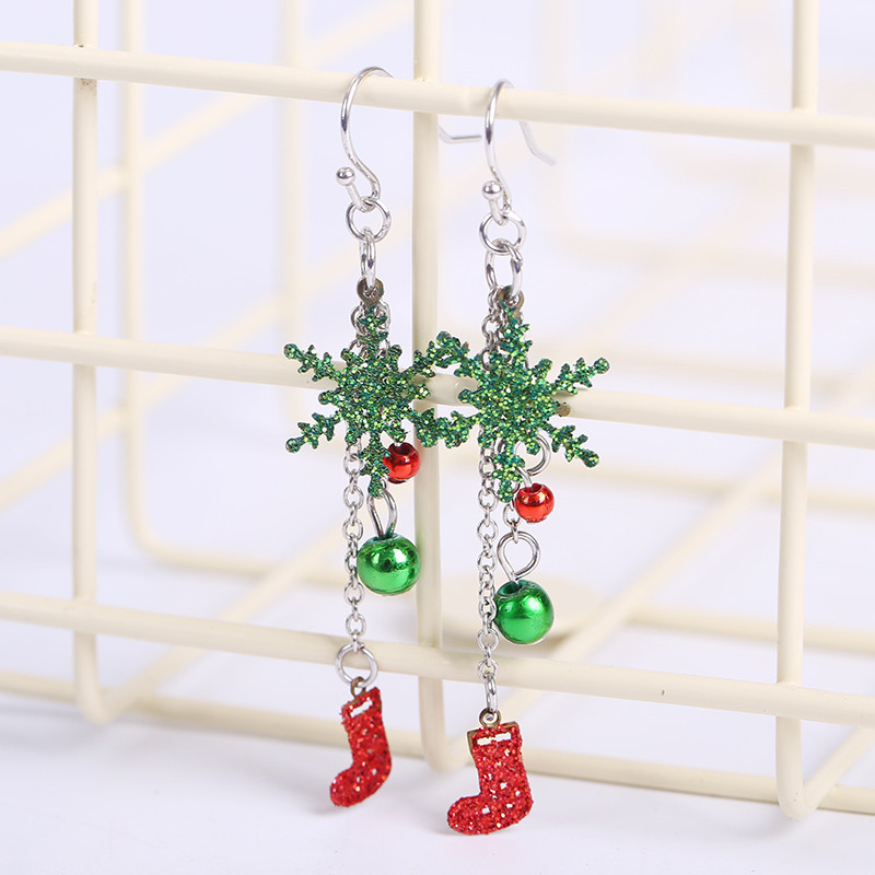2018 New Christmas Gift Ladies Crystal Snow Flake Bijoux Statement Stud Earrings For Women Earring Fashion Jewelry Drop Shipping Price Remains Stable