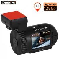 Conkim Mini 0805P Car Dash Camera 1296p 30fps H.264 WDR GPS DVR Video Registrar Parking Sensor Low Voltage Protection Capacitor