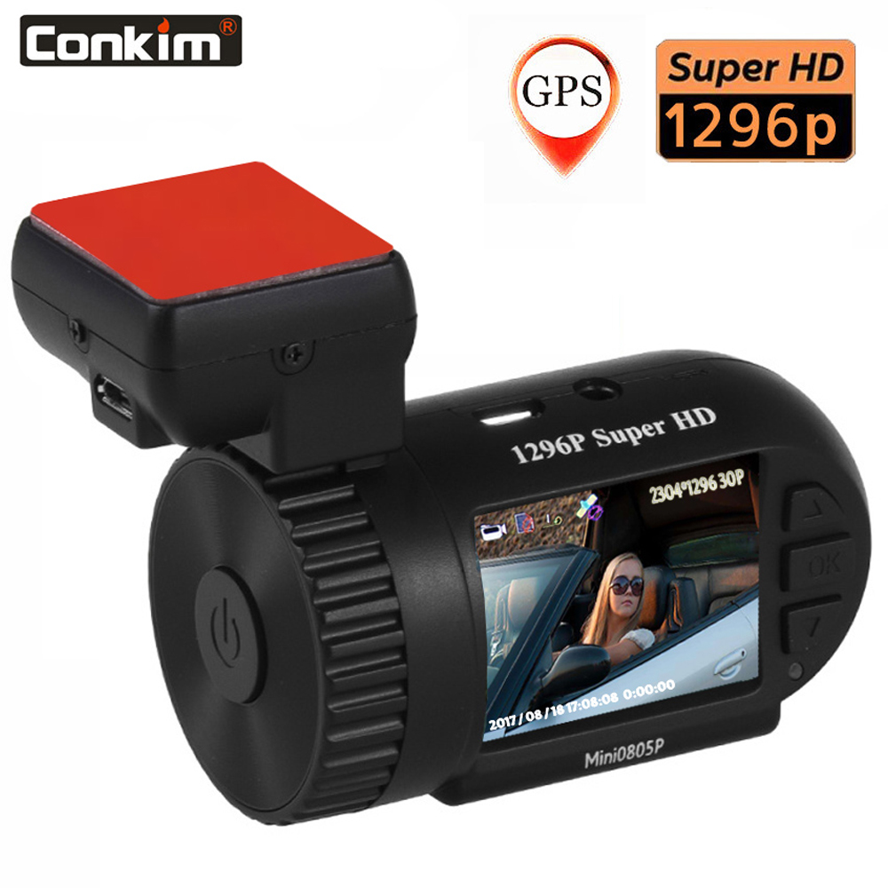 Conkim Mini 0805P Car Dash font b Camera b font 1296p 30fps H 264 WDR GPS