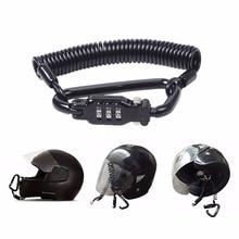 Жесткая мотоциклетный шлем замок с доставкой в течение 3-цифра Комбинации замок с паролем и 6 футов Сталь кабель для обеспечения безопасности вашего шлема