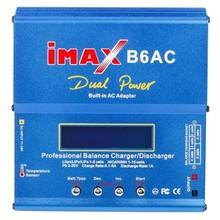 Fábrica al por mayor de iMAX B6AC Dual Power Lipo NiMH RC Balance de la Batería del Cargador Descargador + UE/EE.UU. Plug