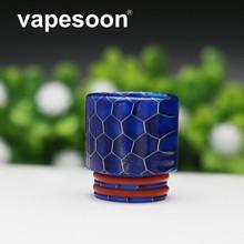 vapesoon Resin Vape Mouthpiece Wild Cobra Drip Tip for e-cigarette 810 Thread RTA Atomizer for SMOK TFV12 Prince