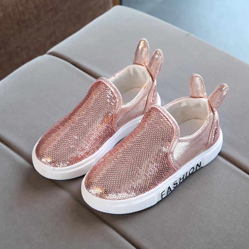 Childrens Sneakers Kids Shoes Sequins Rabbit Ears Girls Casual Shoes Slip On Tenis Infantil Breathable B19101Childrens Sneakers Kids Shoes Sequins Rabbit Ears Girls Casual Shoes Slip On Tenis Infantil Breathable B19101