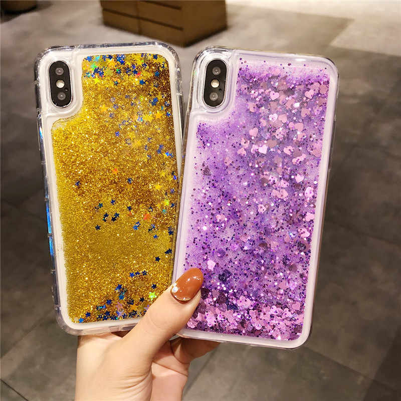 Glitter Quicksand Cases For iPhone X XS SE 5 5S 6 6s 7 8 Plus Case Silicone Cover For Meizu M3 M3S M5 M5S M6 M6S Note MX6 Case