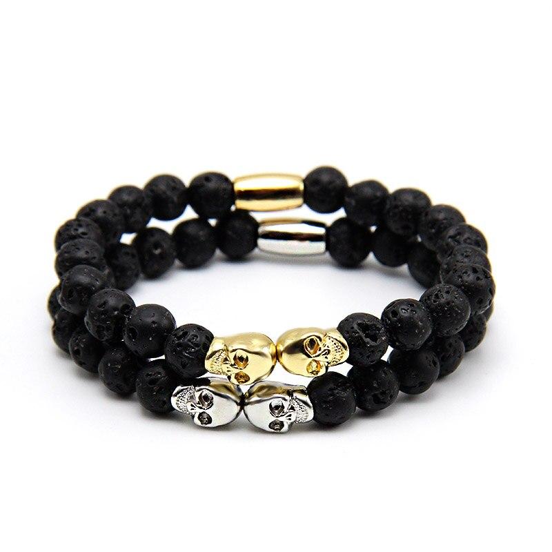 man skull bracelet