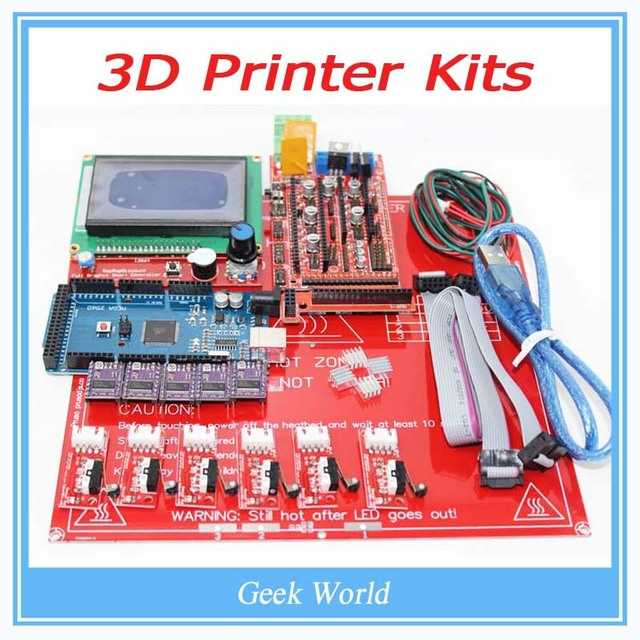 Reprap Ramps 1.4 + Mega 2560 + Heatbed mk2b + 12864 LCD Controller + DRV8825 + Mechanical Endstop+ Cables