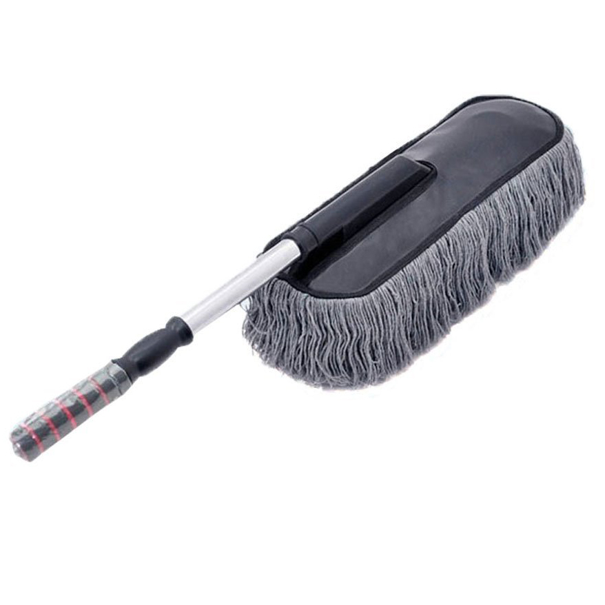 Gray Mop Mop Mop Car Minifiber Telescope Cleaning Brush