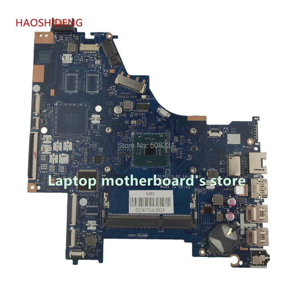 HAOSHIDENG 924754-601 CSL50/CSL52 LA-E811P carte mère Pour ORDINATEUR PORTABLE HP 15-BS020WM 15-BS Mère D'ordinateur Portable PentN3710 entièrement Testé