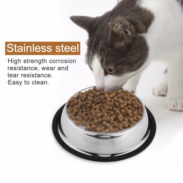 Dog Bowl Feeder Stainless Steel Bowls Cat Dog Eating Bowl High Quality Pet Food Water Bowl Dish Accessories Pet Feeder