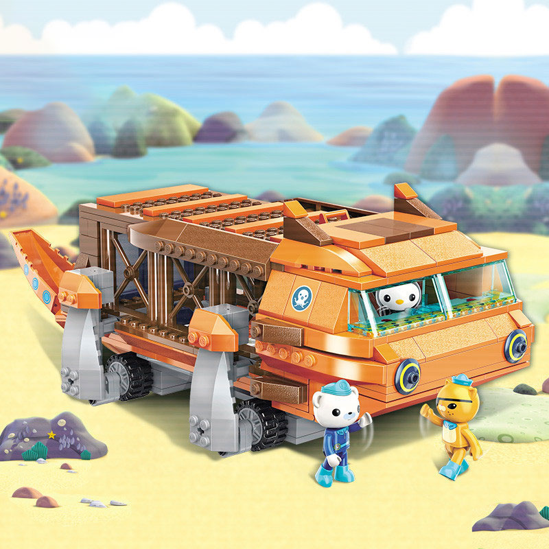 <font><b>Octonauts</b></font> boys <font><b>toy</b></font> large squid boat children fight to insert assembled <font><b>toys</b></font> to assemble building <font><b>blocks</b></font> gifts birthday gift image