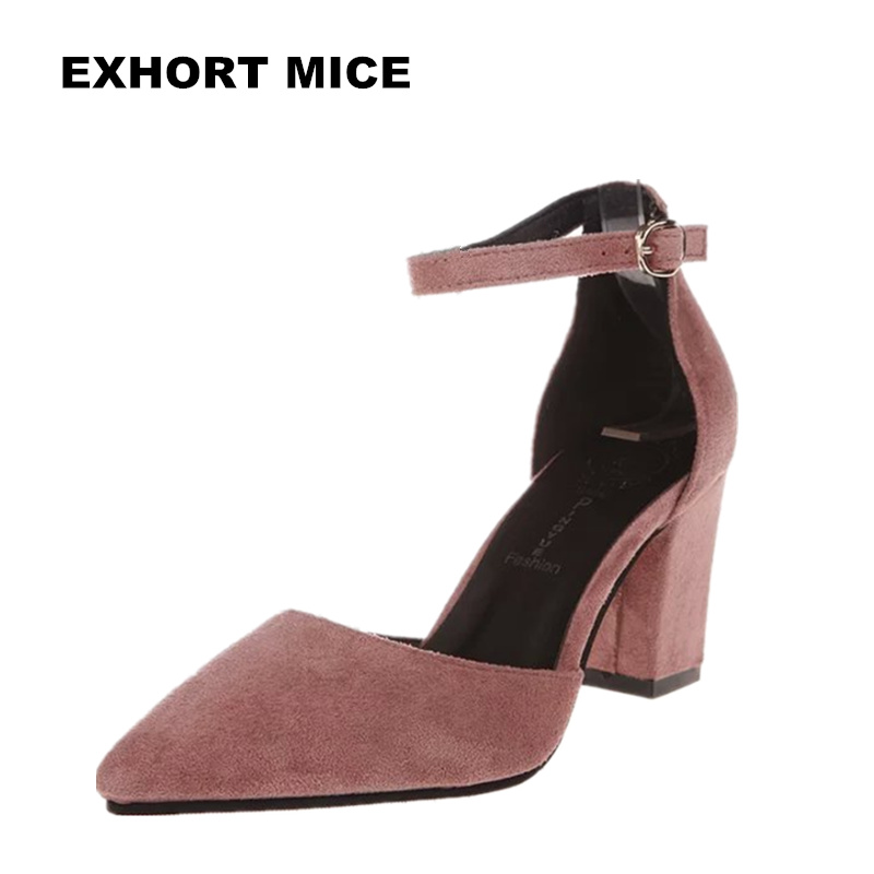 2018 Fashion High Heels Newest Women Pumps Summer Women Shoes Thick Heel Pumps Comfortable Shoes Woman Platform Shoes newest solid flock high heel pumps woman