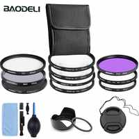 BAODELI Nd Fld Uv Macro Star Polarisatie Lens Filter Set Famiglia 49 52 55 58 62 67 72 77 82mm Per Nikon Canon Sony Accessori