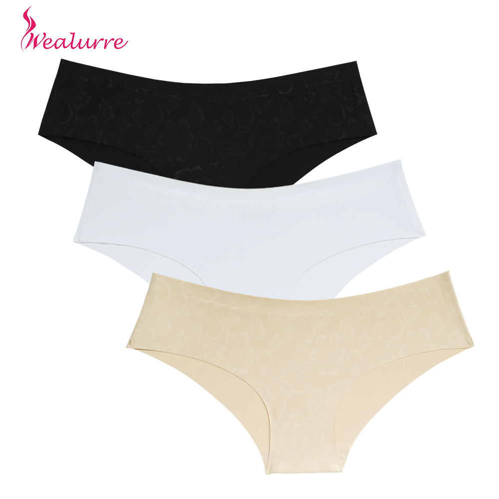 Wealurre New Sexy Seamless Briefs Xl   Panties   Cotton Flower Print Silk Comfortable Traceless Ultra-Thin Underwear Women