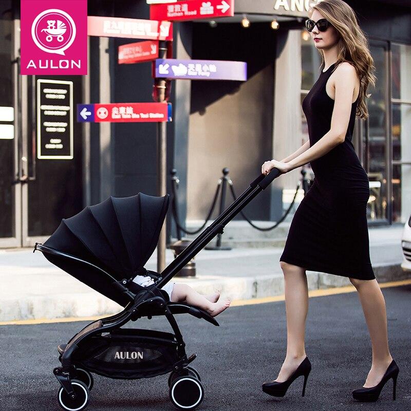 AULON Lightweight Portable Folding Luxury Baby Strollers Hot Mom Stroller Yoya Plus 3 Umbrella Pink
