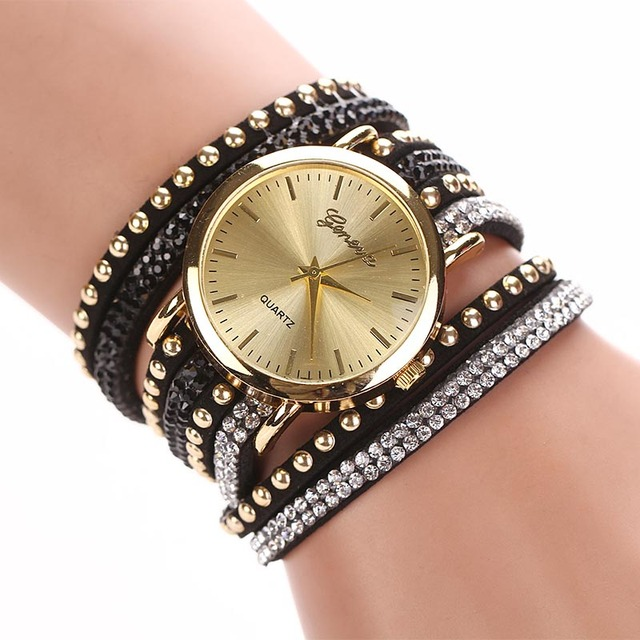 2018 Super Deal Fashion Women's Watches Retro Bracelet Watch Synthetic Leather Q