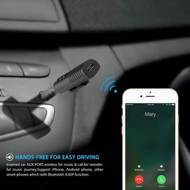 Bluetooth Car Kit Новый Bluetooth AUX аудио приемник 3,5 музыка Приём трансляции автомобиля Bluetooth Hands-free