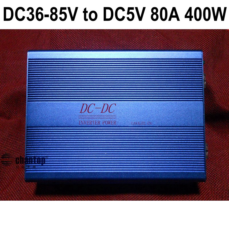 DC36V-85V 48V to DC 5V 80A 400W led screen Regulated Switching Power Supply Transformer DC to DC PSU For Electric Vehicles / car stp80nf70 80nf70 st 80a 70v to 220
