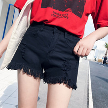 jeans for women high waisted plus size sexy short pant black ripped womens clothing fashion streetwear vintage shorts