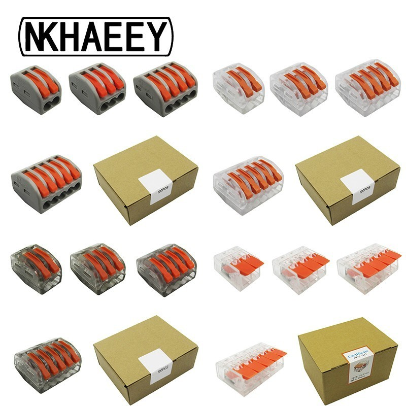 Universal Compact Wiring Terminal Block (100PCS/BOX) Mini Fast Connector Push-in Conductor,Connector Wire Connectors AWG222