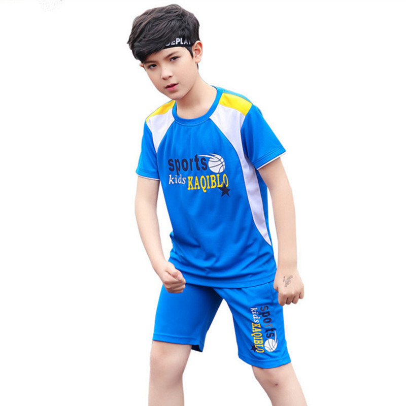 2018 Summer 7-18 Years Old Children Boys Clothing Set Child Fashion Casual Sport Two Sets Short Sleeve Clothes Kids Sets db4282 davebella boys sport clothing set children navy sets kids clothes