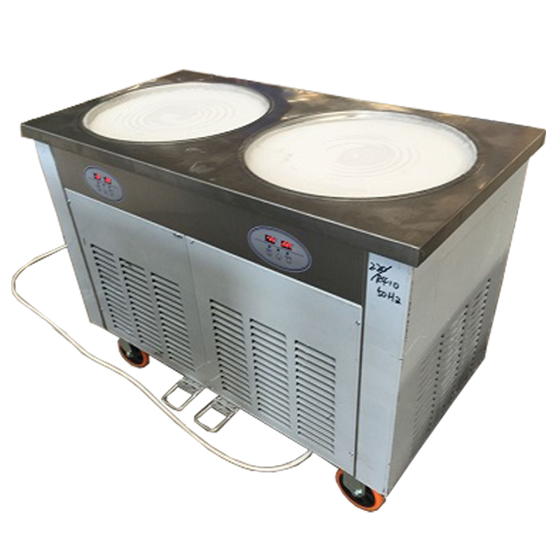 The KN-2DA 45cm Round Pan Of Fried Ice Cream Roll Machine With R410A Refrigerant  Enviroment Friendly (Free Shipping By Sea)