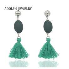 ФОТО adolph jewelry bohemia tassel ear d  earring for woman girl flower cute fashion jewelry cheap nice earrings female 2017 new