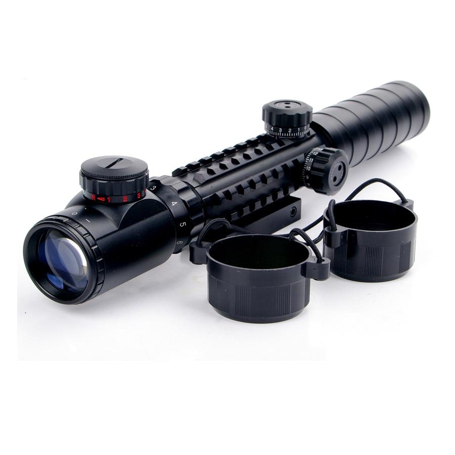 Nuevo 3-9x32EG Riflescope Rojo y verde Iluminado Telémetro Retículo - Caza - foto 5