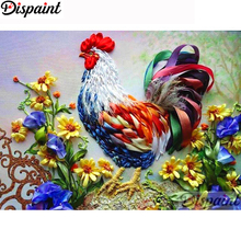 Dispaint Full Square/Round Drill 5D DIY Diamond Painting Animal chicken flower 3D Embroidery Cross Stitch Home Decor A19627