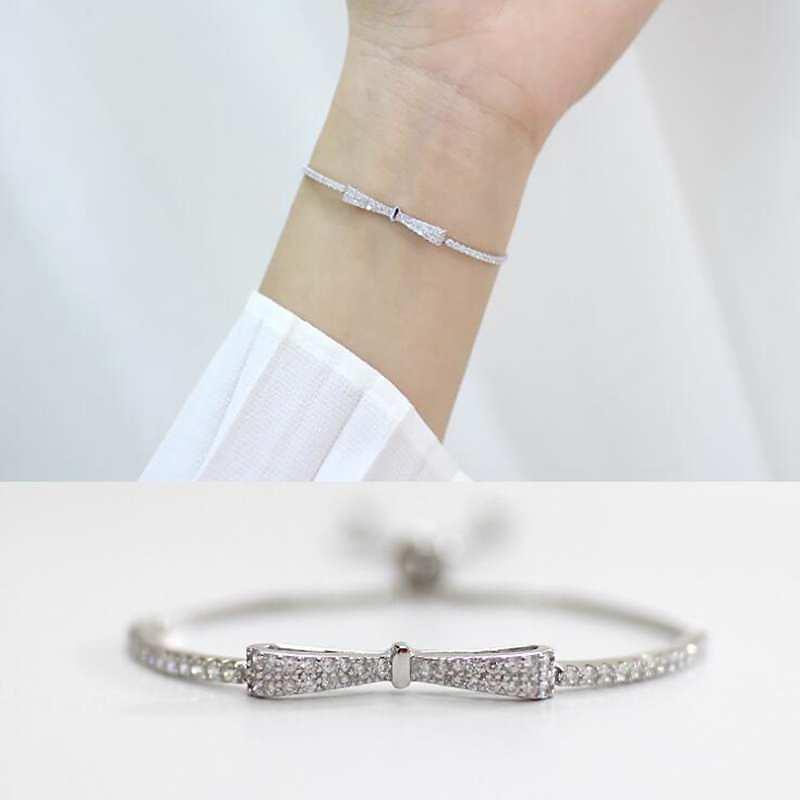 HTB1hMKOlbsrBKNjSZFpq6AXhFXao Ruifan Fashion Box Chain Bowknot 100% 925 Sterling Silver Bracelet Ladies Cubic Zircon Bracelets Female Women's Jewelry YBR057