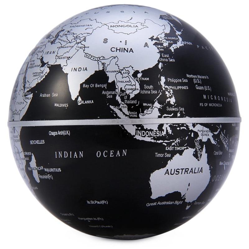 Magnetic Levitation Floating World Map Globe C Shape with LED Light Lamp Base Anti Gravity for Kids Education Teaching Demo New