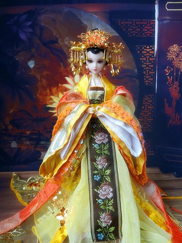 32 سنتيمتر التقليدية الصينية ملكة دمى جميلة فتاة bjd دمى الأفلام والتلفزيون بنات لعب هدايا عيد الميلاد لجمع-في الدمى من الألعاب والهوايات على  مجموعة 1