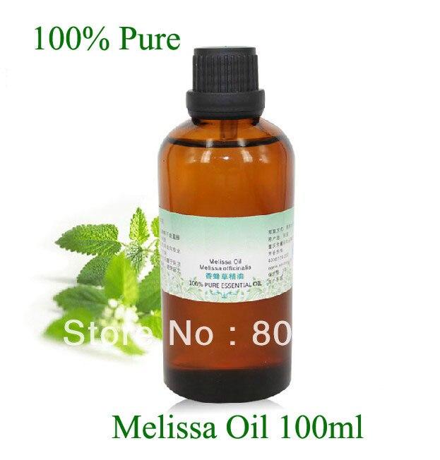 Оптовая продажа органические натуральные растительные масла 100% чистоты Мелисса эфирное масло 100 мл/бутылка хорошего качества